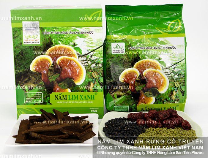 Sản phẩm nấm lim xanh rừng tự nhiên đã qua chế biến.