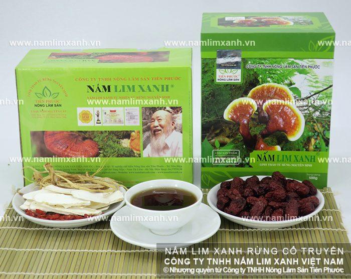 Sản phẩm nấm lim xanh rừng Tiên Phước đã qua chế biến.