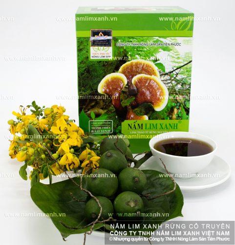Nấm lim rừng tự nhiên được Công ty Tiên Phước thu hái và bảo quản có chất lượng tốt