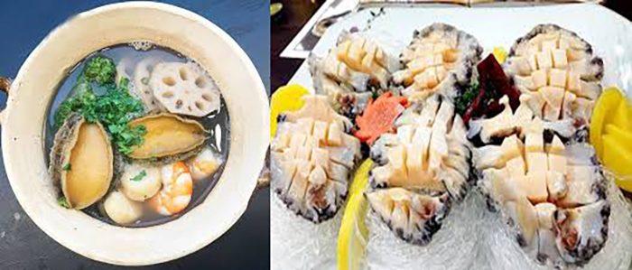 Các món ăn được chế biến từ bào ngư