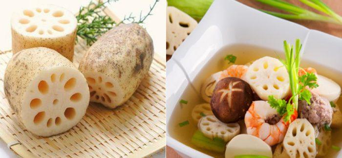 Hình ảnh món ăn chế biến từ ngó sen