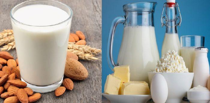 Hình ảnh sữa tự nhiên và nhân tạo như thế nào?