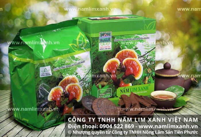 Giá nấm lim rừng của Công ty TNHH Nấm lim xanh Việt Nam đã được niêm yết