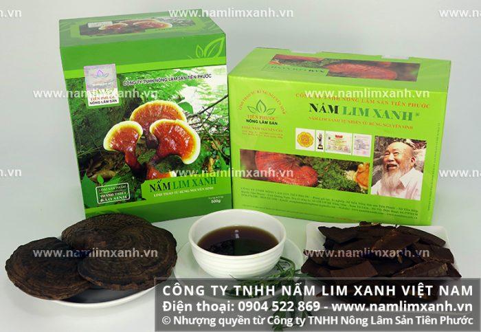 Giá nấm lim xanh được Công ty TNHH Nấm lim xanh Việt Nam được niêm yết cụ thể
