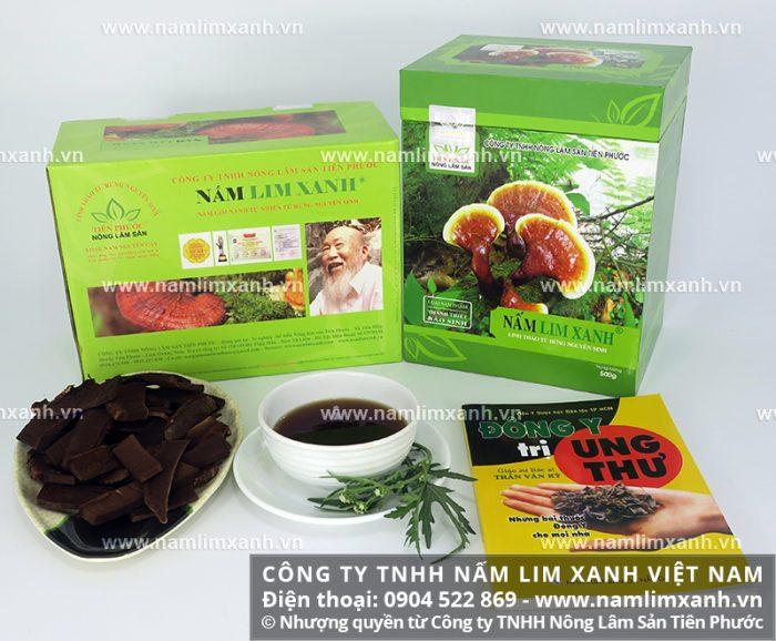 Nấm lim xanh thật được niêm yết giá tại Công ty TNHH Nấm lim xanh Việt Nam