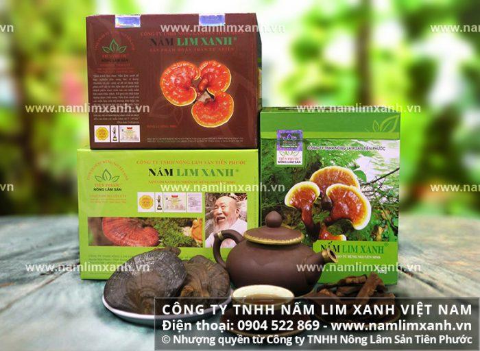 Sản phẩm nấm lim rừng thuộc Công ty TNHH Nấm lim xanh Việt Nam