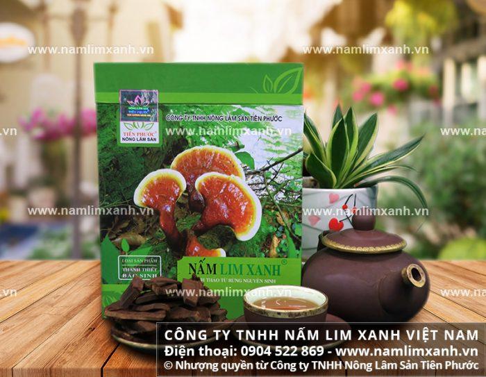 Sản phẩm nấm lim xanh chính hãng của Công ty TNHH Nấm lim xanh Việt Nam