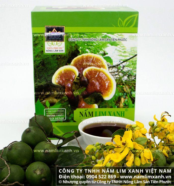 Sản phẩm nấm lim xanh được bán tại các đại lý ủy quyền ở Bình Định