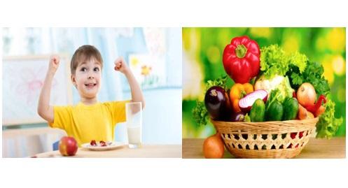 Nên cho trẻ ăn nhiều rau xanh chứa nhiều Vitamin