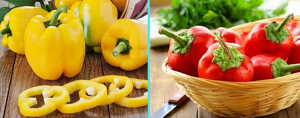 Ớt chuông là loại quả chứa hàm lượng lớn Vitamin A, C