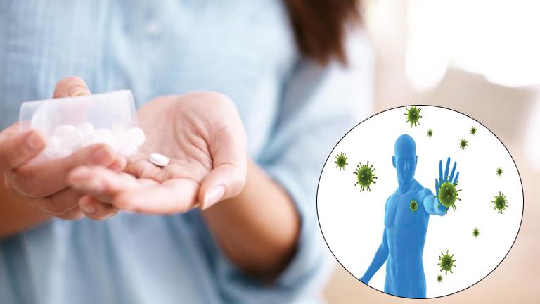 Sử dụng thuốc tăng cường miễn dịch cho người lớn nhằm phòng ngừa virus gây bệnh.
