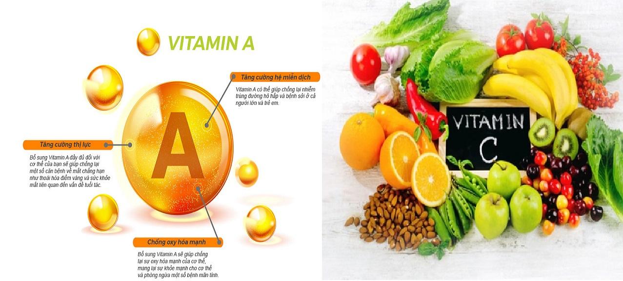 Thuốc tăng miễn dịch có chứa các loại vitamin
